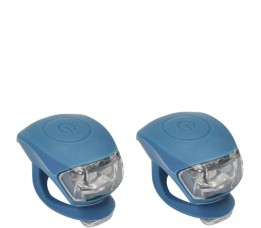 Urban Proof Up Siliconen Led Fietslampjes Set Jeans Blauw