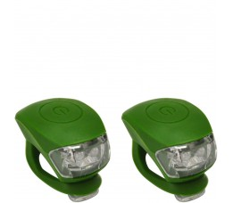 Urban Proof Up Siliconen Led Fietslampjes Set Legergroen